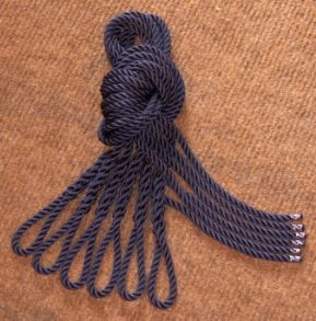 Six Navy Blue Lanyards - Fender Ropes (10mm x 1 metre)